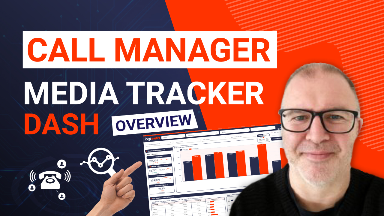 Call Manager – Media Tracker Dashboard Overview